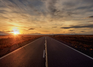 ARG2828AW Ruta 40 near Perito Moreno Town, sunset, Santa Cruz Province, Patagonia, Argentina