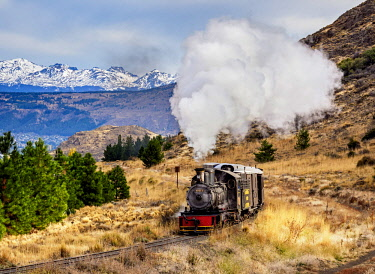 ARG2867AW Old Patagonian Express La Trochita, steam train, Chubut Province, Patagonia, Argentina