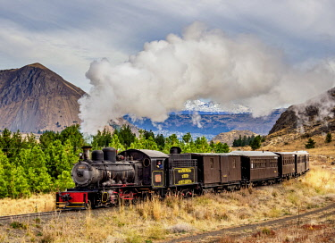 ARG2869AW Old Patagonian Express La Trochita, steam train, Chubut Province, Patagonia, Argentina