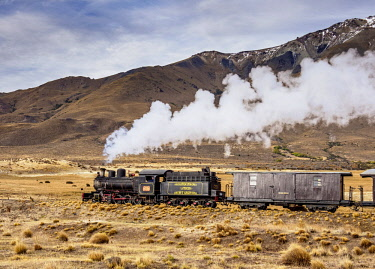 ARG2870AW Old Patagonian Express La Trochita, steam train, Chubut Province, Patagonia, Argentina