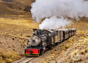 ARG2872AW Old Patagonian Express La Trochita, steam train, Chubut Province, Patagonia, Argentina