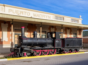 ARG2956AW Old Train Station, Puerto Madryn, The Welsh Settlement, Chubut Province, Patagonia, Argentina