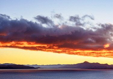 ARG3045AWRF Nahuel Huapi Lake at sunrise, San Carlos de Bariloche, Nahuel Huapi National Park, Rio Negro Province, Argentina
