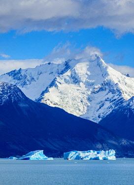 ARG3056AWRF Icebergs on Lake Argentino, Los Glaciares National Park, Santa Cruz Province, Patagonia, Argentina