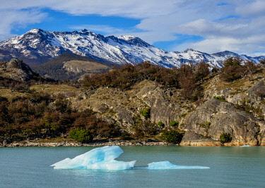 ARG3058AWRF Iceberg on Lake Argentino, Los Glaciares National Park, Santa Cruz Province, Patagonia, Argentina