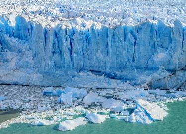 ARG3069AWRF Perito Moreno Glacier, elevated view, Los Glaciares National Park, Santa Cruz Province, Patagonia, Argentina