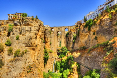 SPA7951AW Puente Nuevo Bridge over the Tajo Gorge, Ronda, Andalusia, Spain