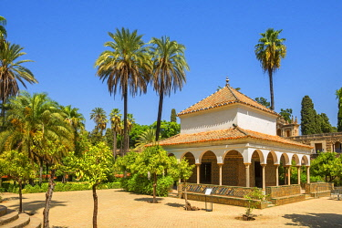 SPA7975AW Pavilion of Carlos V, Gardens of the Real Alcazar, UNESCO World Heritage Site, Sevilla, Andalusia, Spain