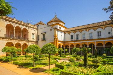 SPA7986AW Garden of the Patio of Casa de Pilatos, Svilla, Andalusia, Spain