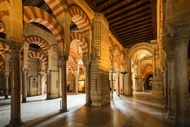 SPA8010AW Mezquita Catedral (Mosque Cathedral) interior, UNESCO World Heritage Site, Cordoba, Andalusia, Spain