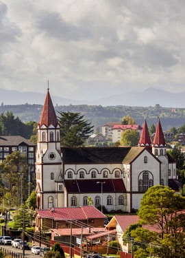 CHI11210AWRF Sagrado Corazon de Jesus Church, Puerto Varas, Llanquihue Province, Los Lagos Region, Chile