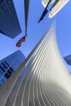 USA13505AW USA, American, New York, Manhattan,Lower Manhattan, One World Trade Center, PATH Station
