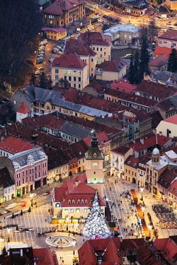 ROM1489 Eastern Europe, Romania, Brasov, hilltop view of Brasov