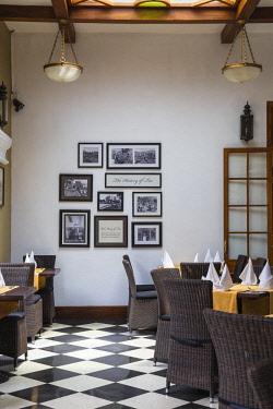 SL01212 Sri Lanka, Nuwara Eliya, Tea room at The Grand Hotel, The former residence of Sir Edward Barnes, Governor of Sri Lanka from 1830 to 1850