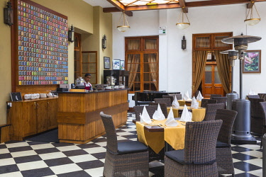 SL01256 Sri Lanka, Nuwara Eliya, Tea room at The Grand Hotel, The former residence of Sir Edward Barnes, Governor of Sri Lanka from 1830 to 1850
