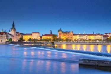 CZE1951 Europe, Czech Republic, Bohemia, Prague, Unesco site, old town  above Vltava river