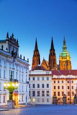 CZE1960 Europe, Czech Republic, Prague, Unesco site, Bohemia, Prague Castle, St Vitus Cathedral and Archbishop's Palace