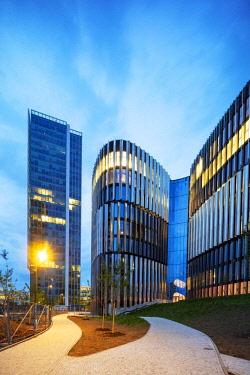 CZE1963 Europe, Czech Republic, Bohemia, Prague, Pankrac business district, Dimension Data building