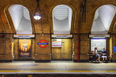 ENG15600 Europe, United Kingdom, England, London, Baker Street underground station