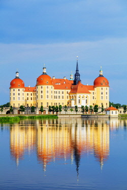 GER10982 Europe, Germany, Saxony, baroque style Moritzburg castle (1542-1546)
