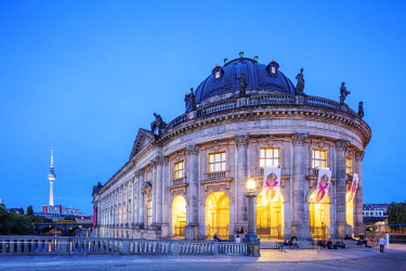 GER10966 Germany, Berlin, Museum Island, Spree River, baroque style Bode museum by Ernst von Ihne 1904, Unesco site