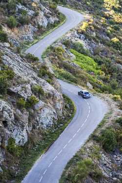 SPA8095 Winding road through the nature reserve of Cap de Creus north of the Costa Brava in the province of Girona in Catalonia Spain
