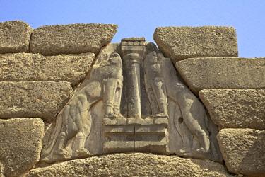 GR273RF The Lion Gate, Mycenae, Argolis, The Peloponnese, Greece, Southern Europe
