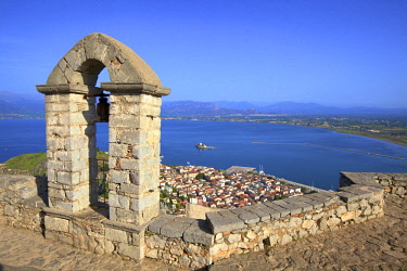 GR278RF The Bell Tower at Palamidi Castle, Nafplio, Argolis, The Peloponnese, Greece, Southern Europe