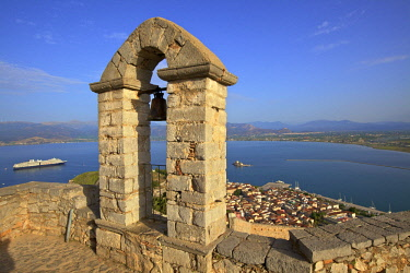 GR06520 The Bell Tower at Palamidi Castle, Nafplio, Argolis, The Peloponnese, Greece, Southern Europe