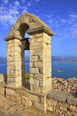 GR06524 The Bell Tower at Palamidi Castle, Nafplio, Argolis, The Peloponnese, Greece, Southern Europe