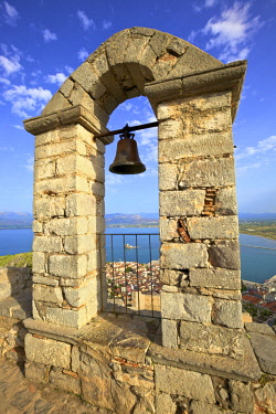 GR06525 The Bell Tower at Palamidi Castle, Nafplio, Argolis, The Peloponnese, Greece, Southern Europe