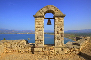 GR06539 The Bell Tower at Palamidi Castle, Nafplio, Argolis, The Peloponnese, Greece, Southern Europe