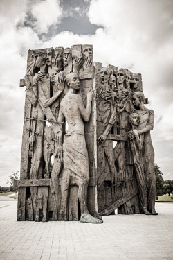 "BY01146 ""Gate of memory"" (sculptor K. Kostyuchenko), Maly Trostenets (WW2 Nazi death camp), Minsk, Belarus"
