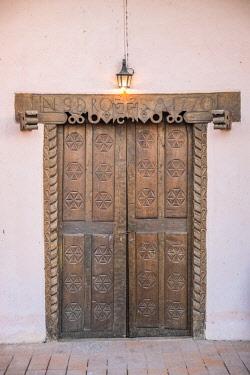 HMS3203198 Argentina, Catamarca Province, Hualfin, church door