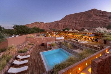 HMS3038748 Chile, Antofagasta Region, San Pedro de Atacama, the Alto Atacama Hotel in the Atacama Desert