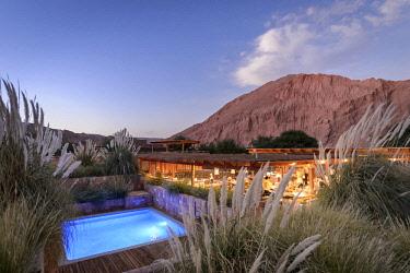 HMS3038771 Chile, Antofagasta Region, San Pedro de Atacama, the Alto Atacama Hotel in the Atacama Desert
