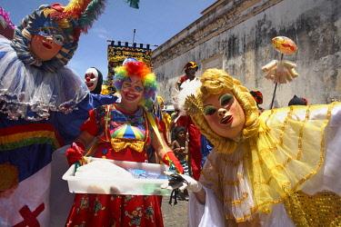 HMS3064147 Brazil, Pernambuco, Olinda, Historic Center classified World Heritage of Humanity by UNESCO, Maurício de Nassau House, Olinda Carnival