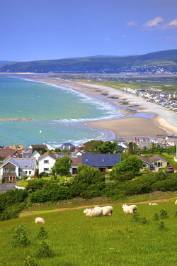 UK06215 The Seaside Resort of Borth, Cardigan Bay, Wales, United Kingdom, Europe,