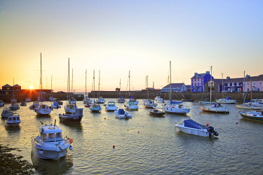 UK06220 The Harbour at Aberaeron, Cardigan Bay, Wales, United Kingdom, Europe,
