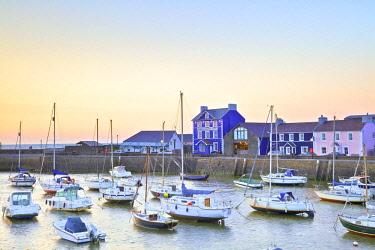 UK06221 The Harbour at Aberaeron, Cardigan Bay, Wales, United Kingdom, Europe,
