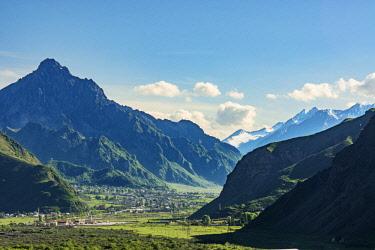 GEO0359AWRF Caucasus mountain range. Khevi-Kazbegi region, Georgia. Caucasus