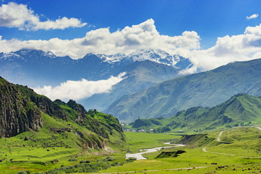 GEO0360AWRF Caucasus mountain range. Khevi-Kazbegi region, Georgia. Caucasus