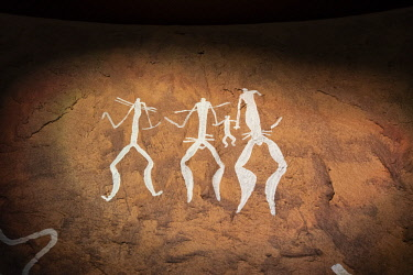 AZE0056AW Hunters. Gobustan Rock Art Cultural Landscape Reserve Museum. This reserve has an outstanding collection of more than 6.000 rock engravings bearing testimony to 40.000 years of rock art. Gobustan, A U...