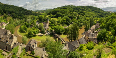 FRA10392AW View Over Belcastel, Occitanie, France
