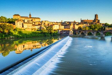 FRA10403AW River Tarn Reflections, Albi, Occitanie, France