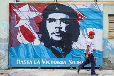 HMS3090020 Cuba, Holguin province, Holguin, Che Guevara painting