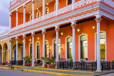 HMS3119988 Cuba, Villa Clara province, colonial city of Remedios founded in the 16th century, Plaza Mayor, Camino del Principe boutique hotel