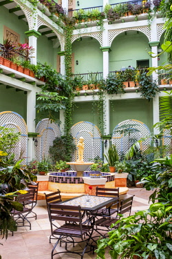 HMS3119998 Cuba, Villa Clara province, colonial city of Remedios founded in the 16th century, Barcelona boutique hotel