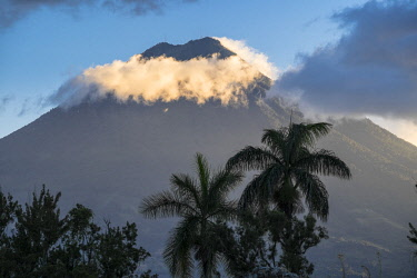 HMS2502583 Guatemala, Sacatepequez department, Antigua Guatemala, listed as World Heritage by UNESCO, Agua volcano (alt : 3760m)