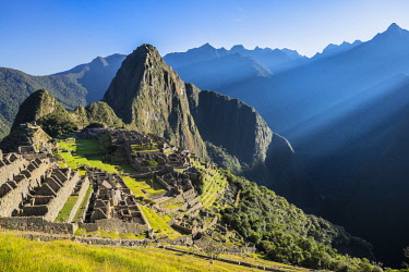 HMS2356839 Peru, Cusco Province, Incas Sacred Valley, Inca archeological site of Machu Picchu, listed as World Heritage by UNESCO, built in the 15th century under the reign of Pachacutec (Pachacuti Inca Yupanqui...